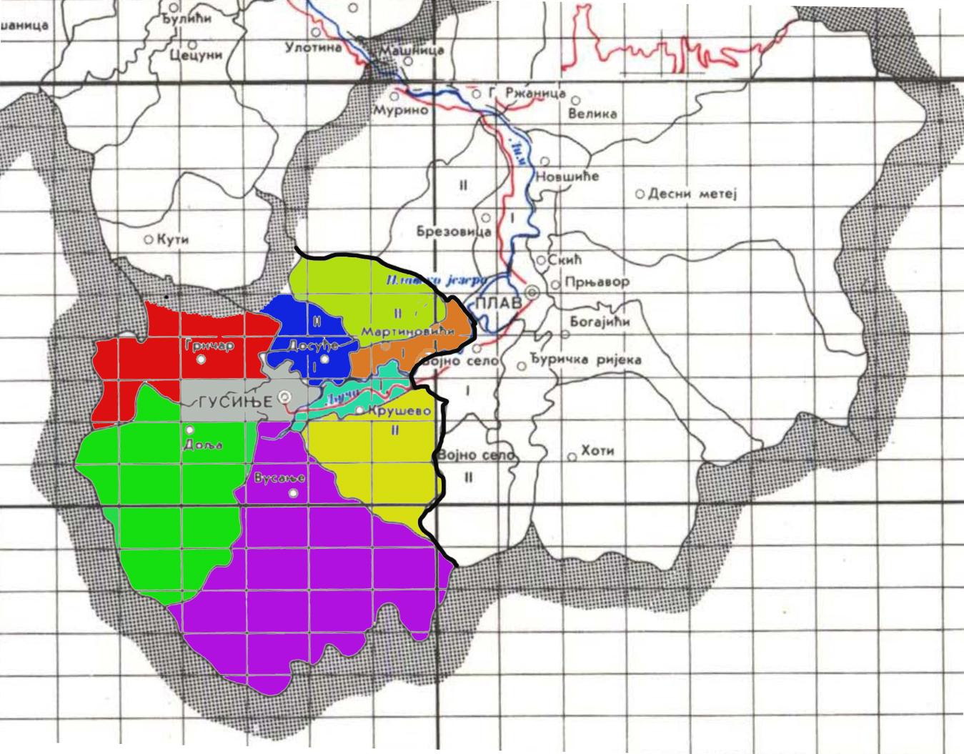 Karta Katastarskih Opstina Gusinje